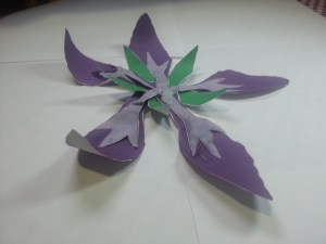 Papercraft flower: a tangible achievement.