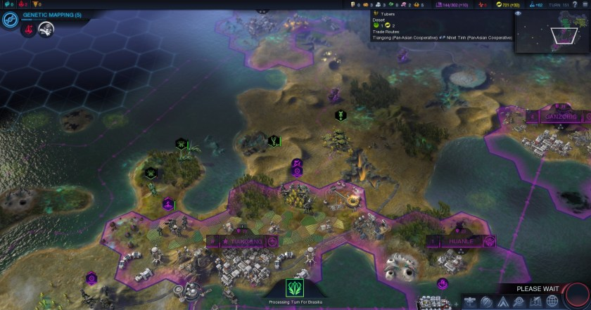 Slowly pushing back aliens in the early game: one of the high points of Beyond Earth.