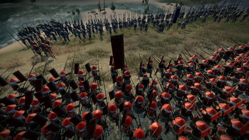 S2 spearmen preparing to repel Uesugi