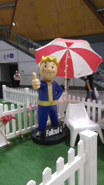 I posed with this same Vault Boy prop last year.