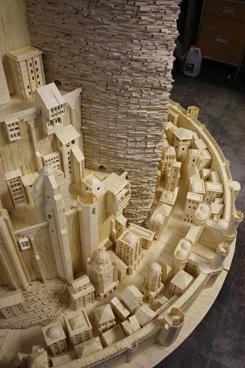 Minas Tirith (made out of matchsticks)