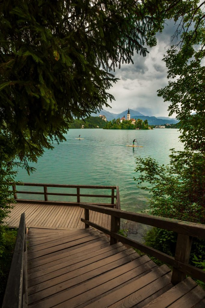 paddlers on lake bled