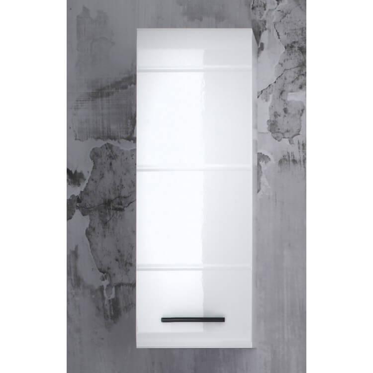 Meuble Haut De Salle De Bain Design 1 Porte Coloris Blanc Kyrios Matelpro