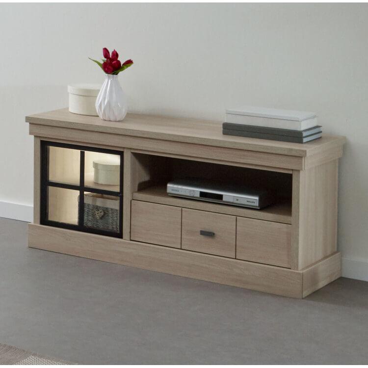 meuble tv contemporain 115 cm coloris orme naturel vaucluse