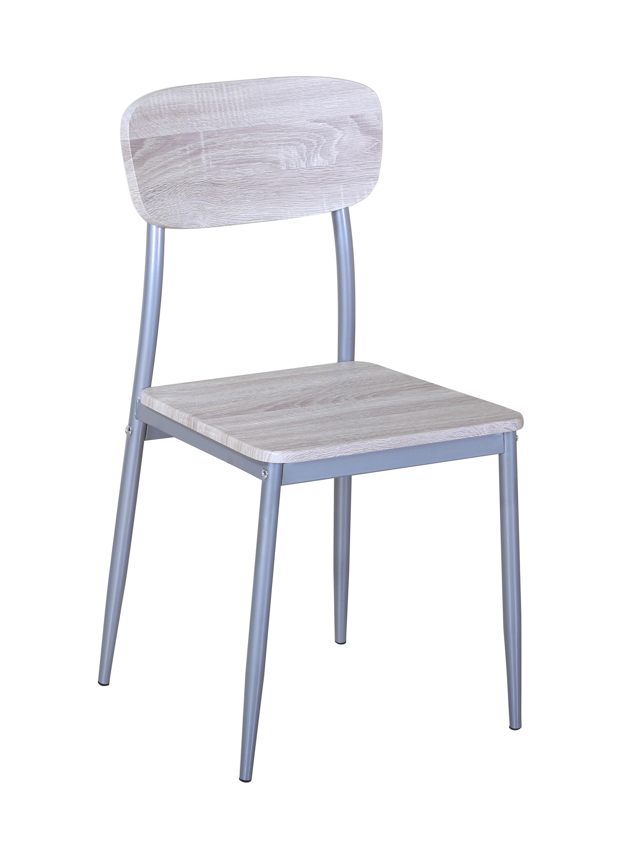 chaise de cuisine contemporaine coloris chene sonoma lot de 4 aveyron
