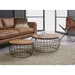 table basse ronde pas cher matelpro