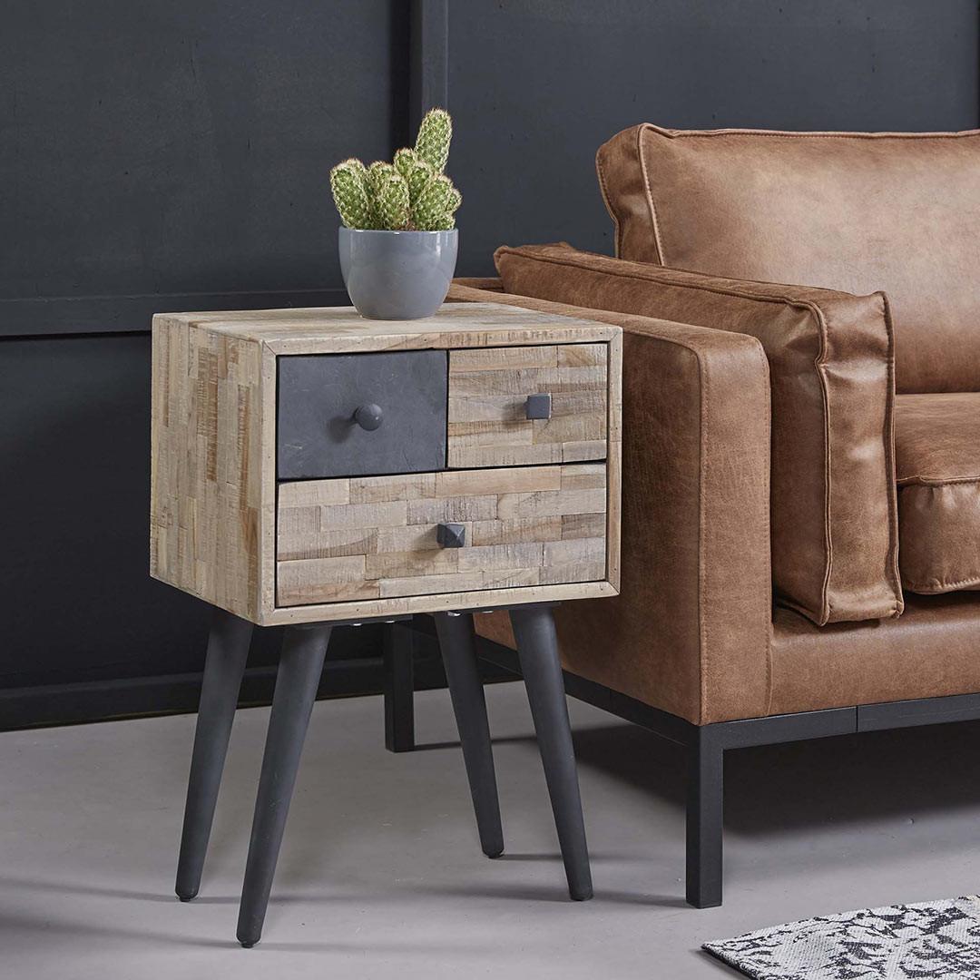 meuble de rangement d appoint scandinave en bois 3 tiroirs lola