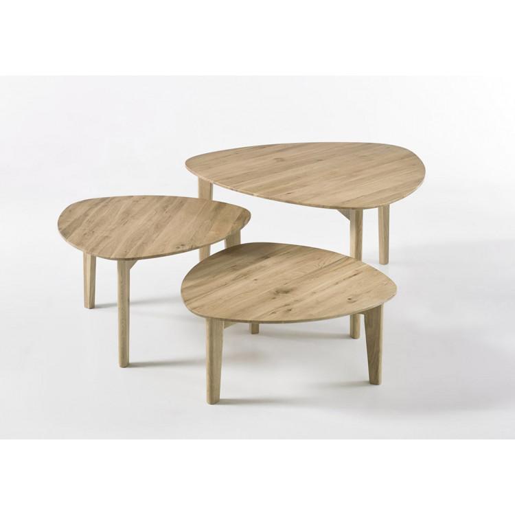 tables basses gigognes style nature chene massif odysse