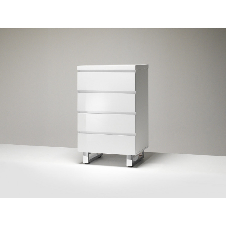 meuble de rangement moderne blanc laque rodney