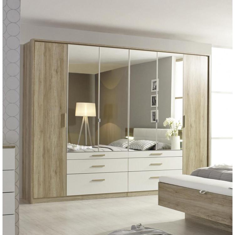 armoire adulte moderne 271 cm chene blanc mirsa