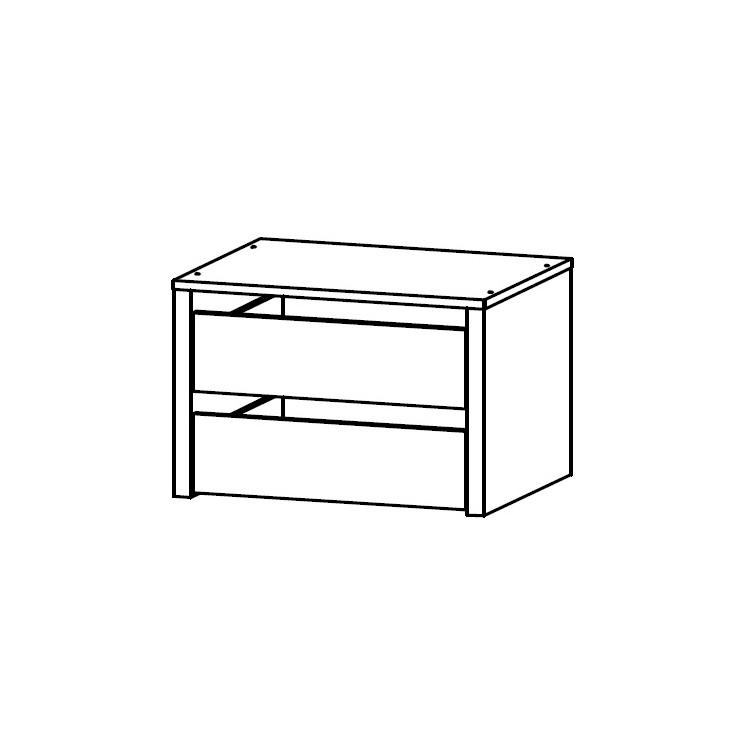 bloc 2 tiroirs pour armoire ornella