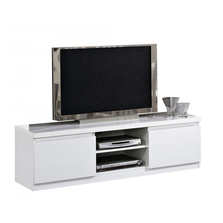 meuble tv moderne 150 cm laque cristal