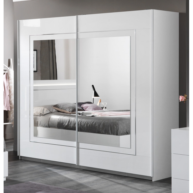 armoire adulte moderne laquee blanche clemence