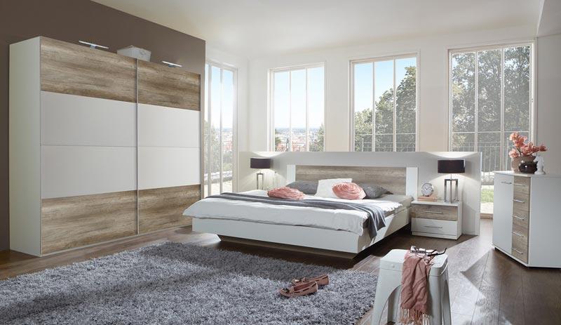 zoom sur la chambre a coucher complete