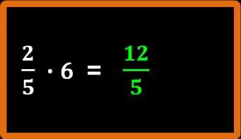 Moltiplicazione tra un numero e una frazione: esercizi