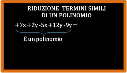 Esercizi di riduzione dei termini simili di un polinomio
