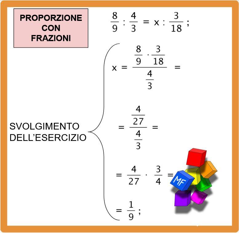 Come si eseguono le proporzioni con le frazioni