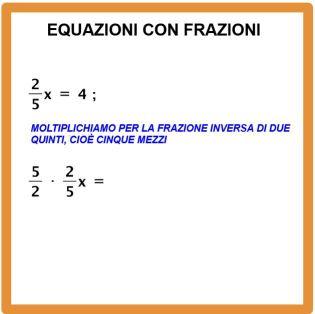 Come si risolve un equazione con le frazioni