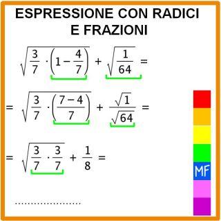 espressioni frazioni radici