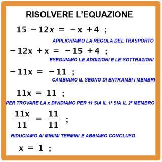 risolvere un'equazione