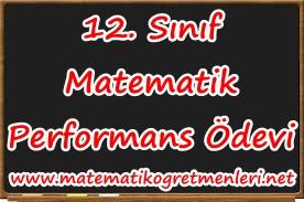 12. Sınıf Matematik Performans Ödevi