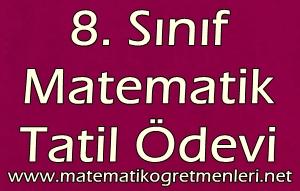 8. Sınıf Matematik Yarıyıl Tatil Ödevi