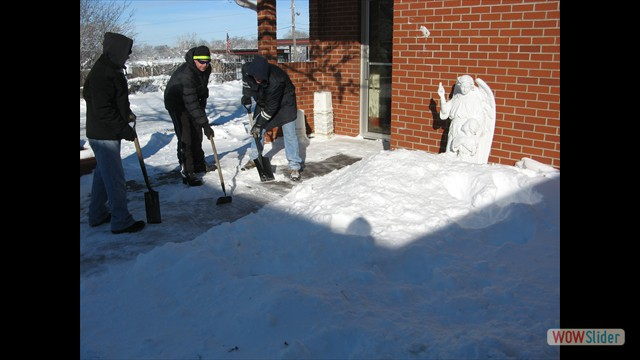Shoveling Snow- Ora et Labora!