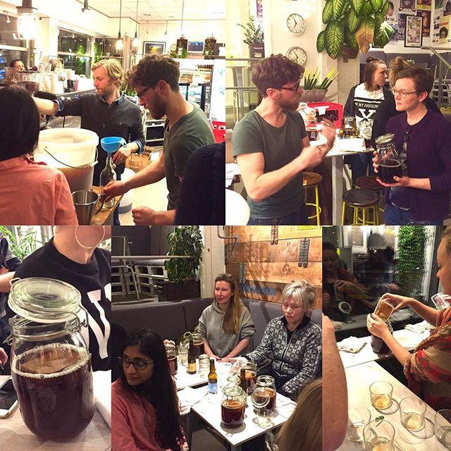 Tack Matthias & Nick från ROOTS Kombucha för en härlig Kombucha workshop igår. Ni gav oss en kul och inspirerande kväll. Nu kombuchas det i 20 nya hem runt om i Göteborg. Ska bli kul att höra hur det blir för er alla. #rootskombucha #materiamajorna #kombucha