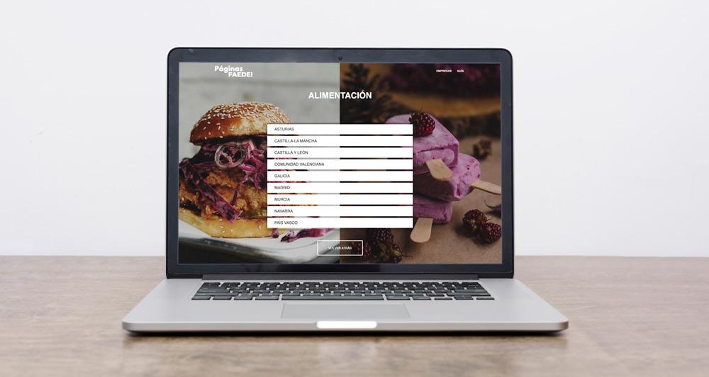 Diseño página web páginas faedei
