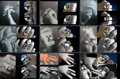 Réplicas dos anéis de Keith Richards