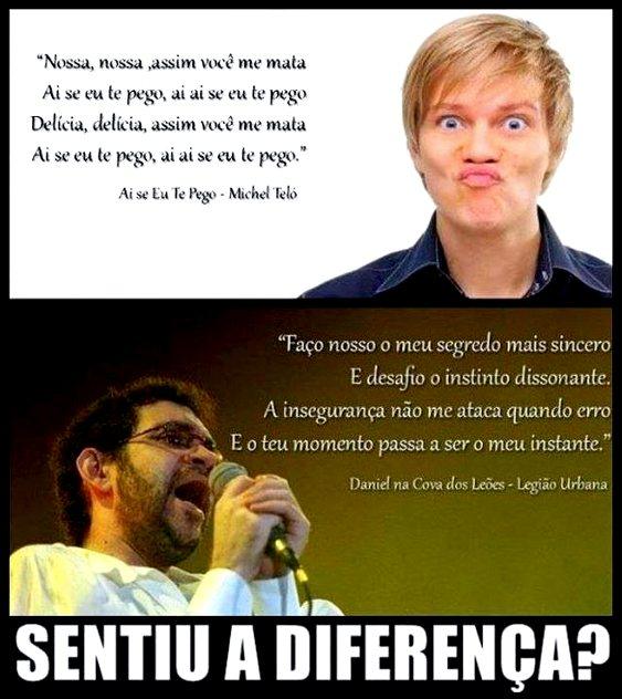 Renato Russo e Michel Teló - a diferença