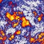 Imagem das explosões solares no limite entre a ciência e a arte