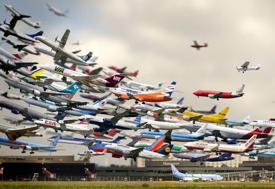 Decolagem de aviões em Hannover