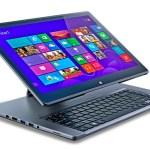 O notebook Acer Aspire R7 com dobradiça Ezel Hinge