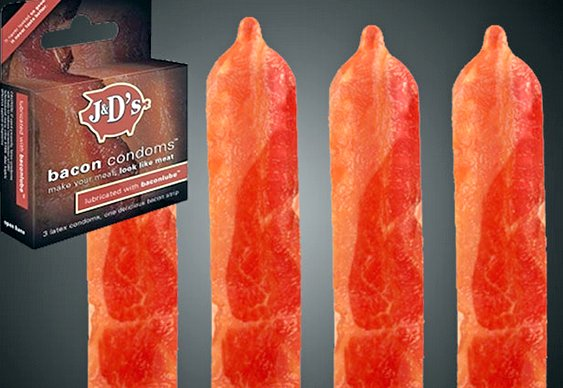 Preservativos com sabor de bacon