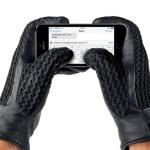 Luvas com couro tão fino que dá até para operar a tela do celular