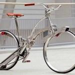 Bicicleta dobrável de alumínio cabe dentro de uma mochila