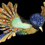 Como se fabrica um colibri em broche de ouro com pedras preciosas