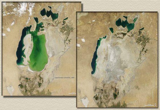 Mar de Aral virou deserto