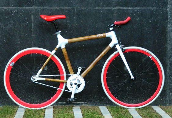 Bicicleta com fibras vegetais