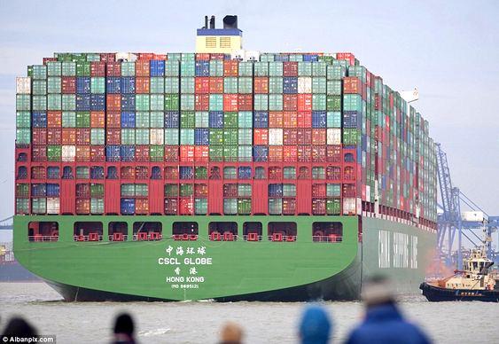 Embarcação CSCL Globe