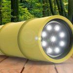 Projeto de lanterna alternativa embutida em gomos de bambu