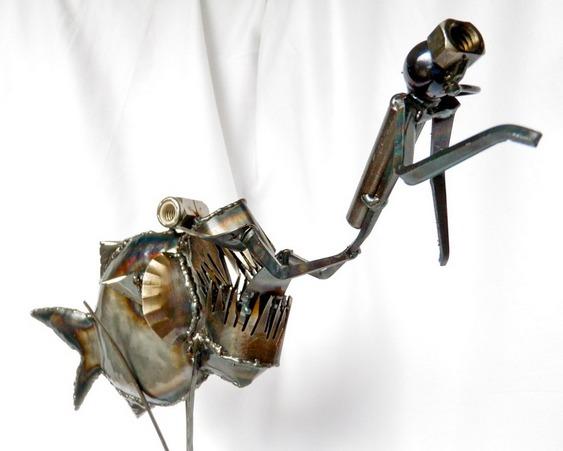 Arte com sucata de metal