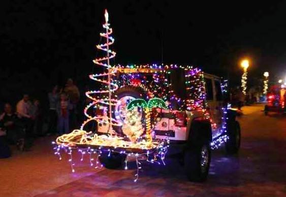 Decoração natalina automotiva