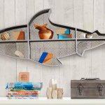 Estante de aço com perfil de tubarão para decoração náutica