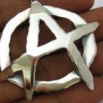 Símbolo do Anarquismo 3D para usar como pingente ou medalhão
