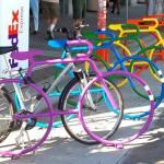 Respeito à diversidade nos bicicletários de uma cidade americana