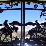 Portão de ferro para haras ou fazenda de criação de cavalos