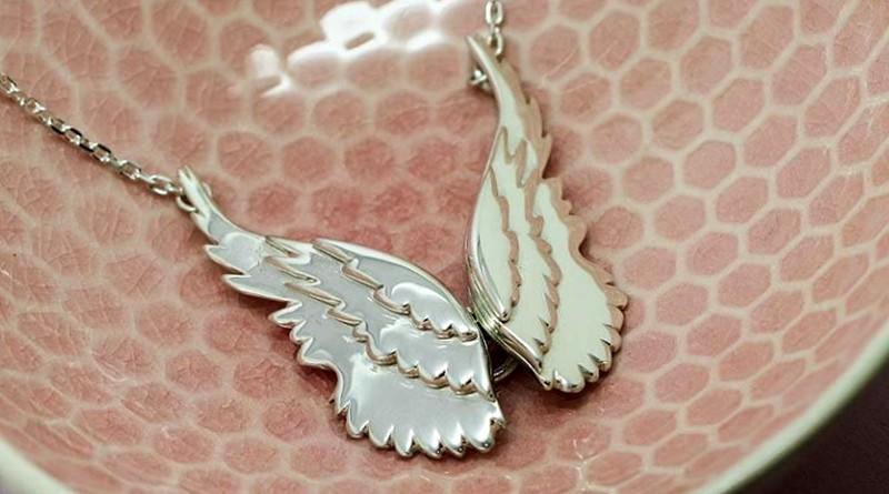 Bijuteria asas de anjo da guarda