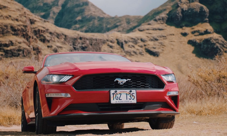 ford mustang red